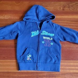 "Walt Disney World Kids ""71"" Zip Up Hoodie Size XXS"